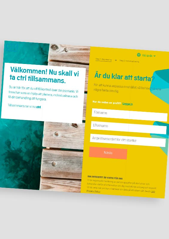 CTRL-support service for patients on Kyntheum treatment. Service is in Sweden