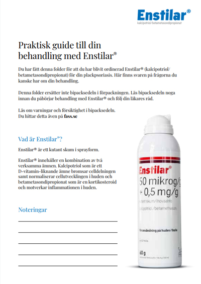 Thumbnail of Enstilar® patient instruction for body and scalp in Swedish