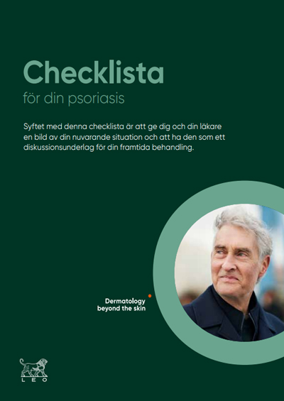 Thumbnail of psoriasis check list in Swedish to support patient visits