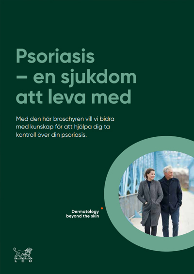 Thumbnail of psoriasis folder in Swedish to help your patient to take control of psoriasis